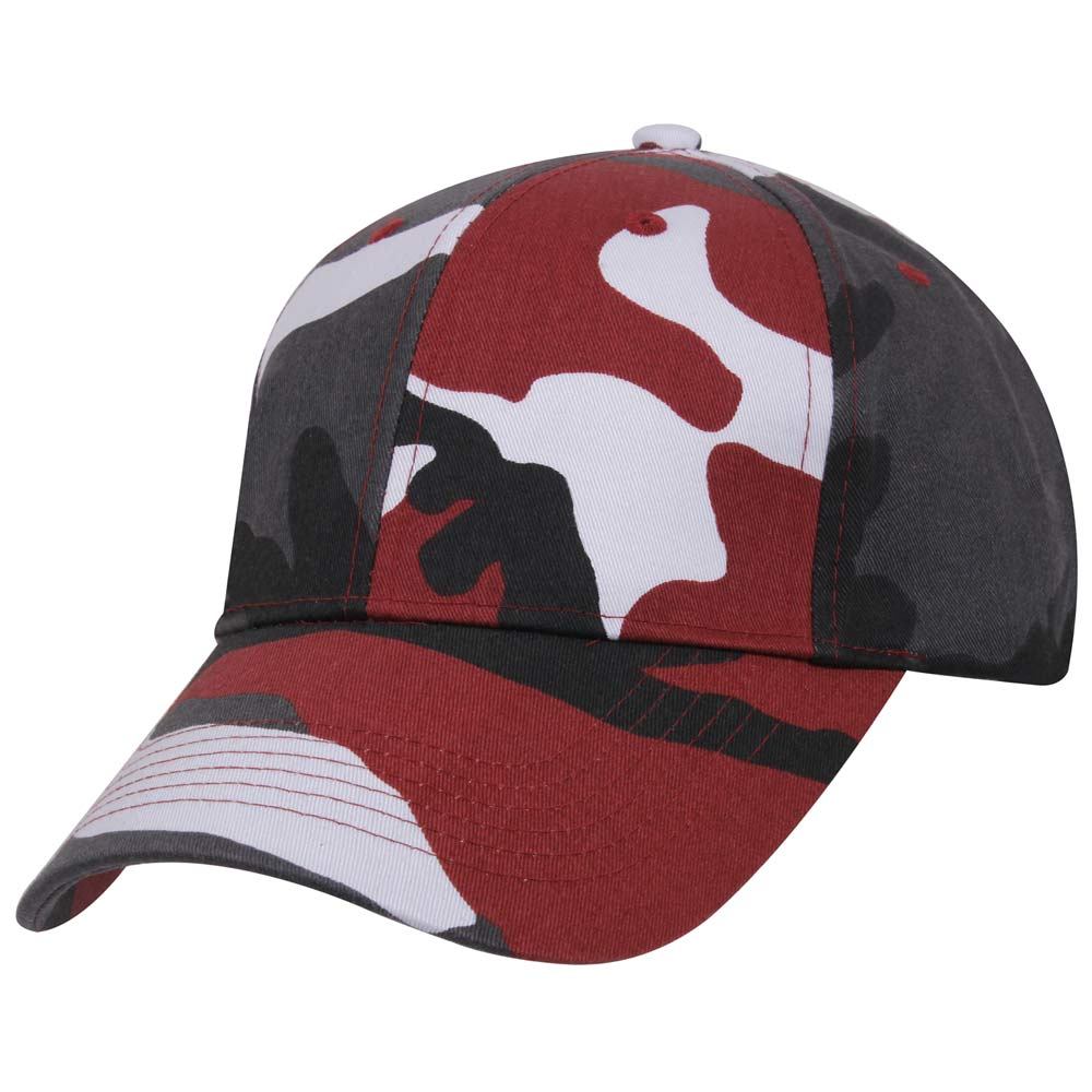 Red Camouflage Baseball Cap