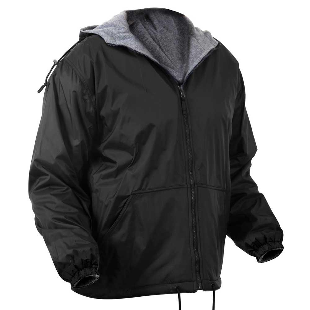 Waterproof Duffle Bags >> Reversible Fleece-Lined Hooded Jacket - Waterproof Hoodie