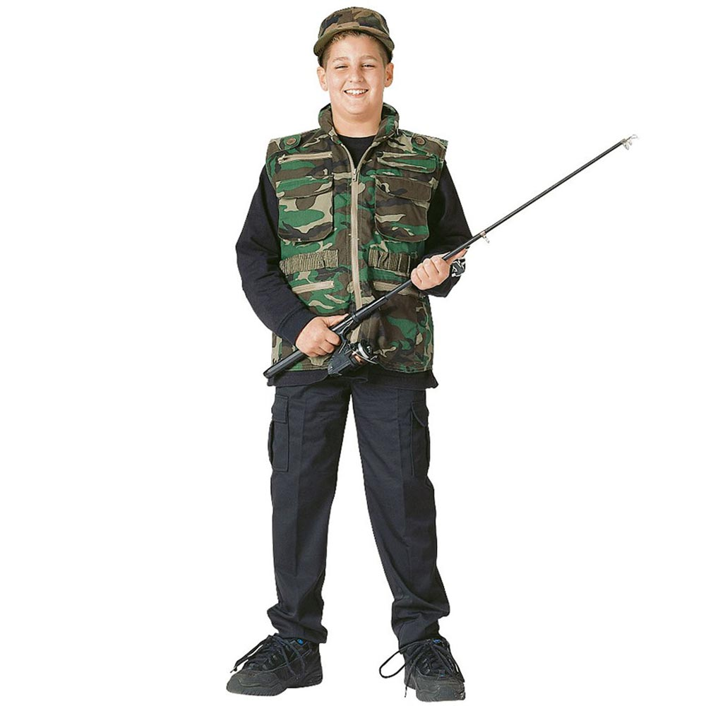 "3/"" Woodland Camouflage Kids Military Sheriff Star Patch"