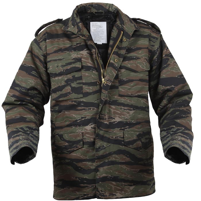 9f9fe8c0b7807 Clothing, Shoes & Accessories Camo Military M-65 Field Coat Camouflage Army  M65 Tactical Uniform Jacket M1965