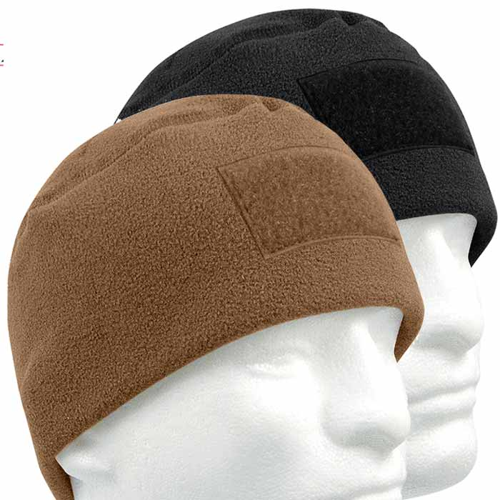 135c41f2ad573 Military Polar Fleece Winter Hat with Patch Loop