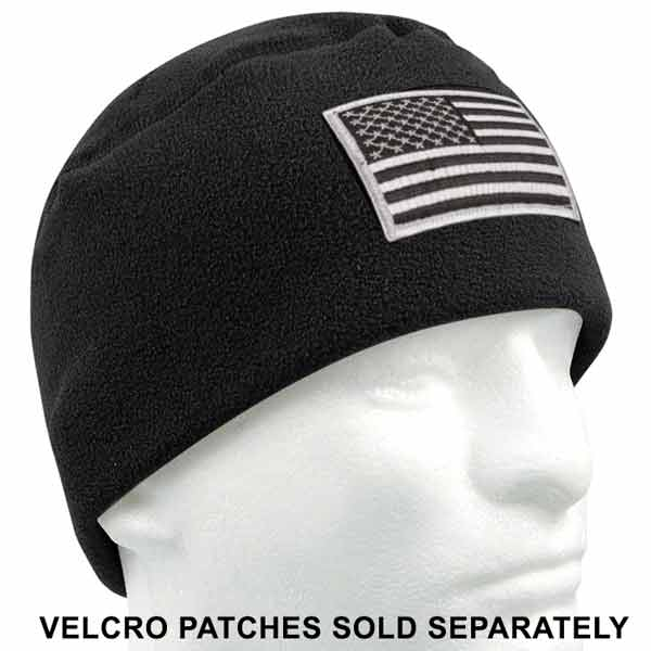 c35795d6706 Military Style Polar Fleece Watch Cap with Patch Loop · Share