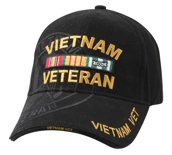 Vietnam War Veteran Black Shadow Baseball Hat