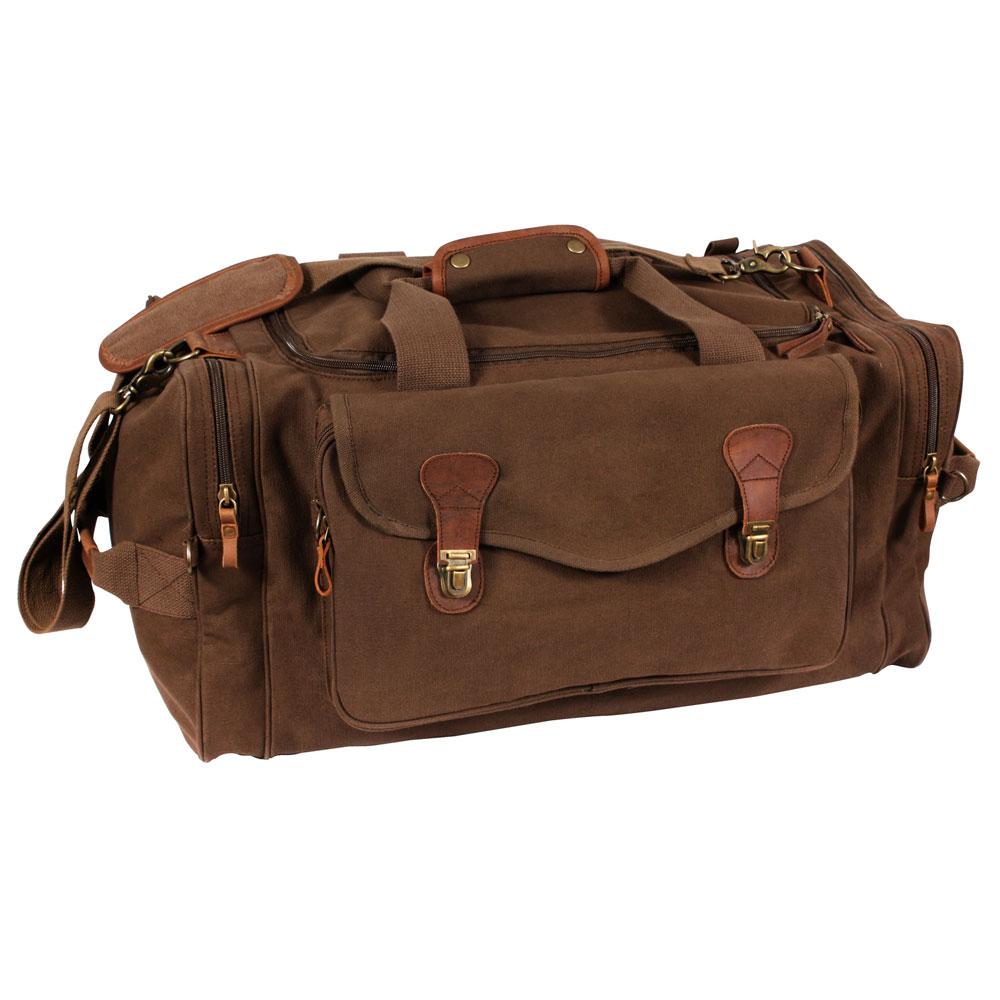 Vinatage Brown Long Weekend Duffel Bag 238b3ef9fc0