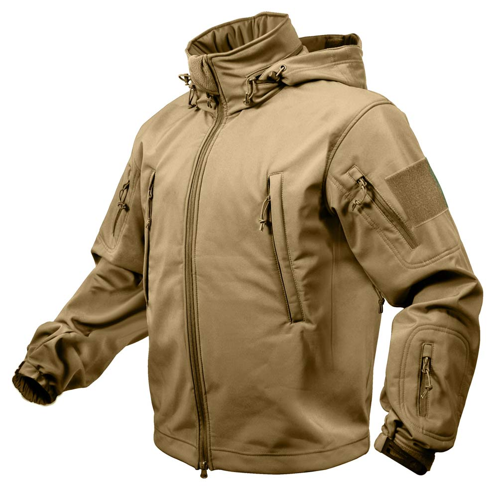 Coyote Brown Special Ops Soft Shell Waterproof Jacket | Military ...