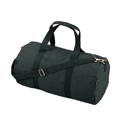 4c0c14ad6 19 inch Black Canvas Military Duffle Bag | Military Duffle Bags