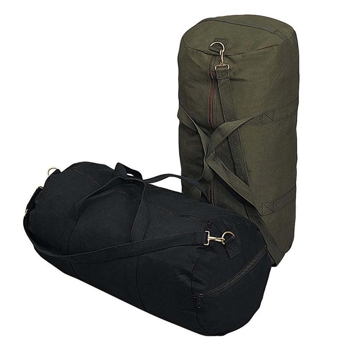 d5c5220b3e 24-inch Canvas Duffle Bag - Military Duffel Bag