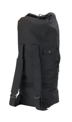 Black 2-Strap Duffel Bag - Military Duffel Bag 76b2402375d