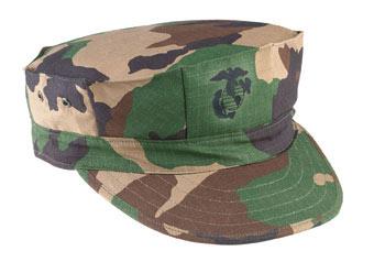 Ripstop Marine Corps Fatigue Cap With Emblem Usmc
