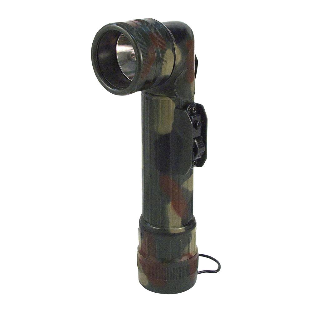 Military Camo D Cell Angle Head Flashlight Military