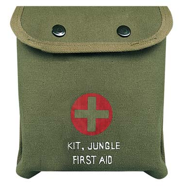 Military Olive Drab Medium First Aid Kit