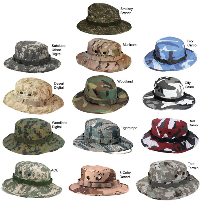 68ba3b219976d Heavy Duty Twill Military Boonie Hat
