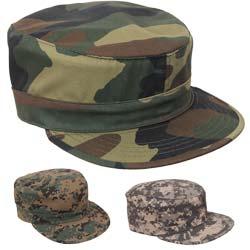 Fashion Unisex Military Hat Cadet Patrol Bush Cap ArmyGreen Franterd Hat