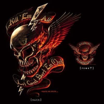 Black Ink Design Kill Em All T Shirt Special Forces