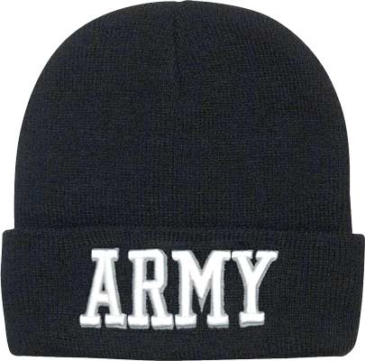 Deluxe Army Embroidered Watch Cap