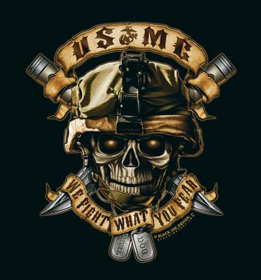 Usmc We Fight What You Fear T Shirt