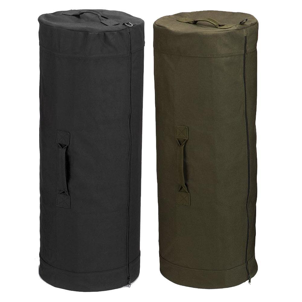439f3a2b4b72 25 x 42 Full Zip Military Duffle Bag - Canvas Duffel Bag