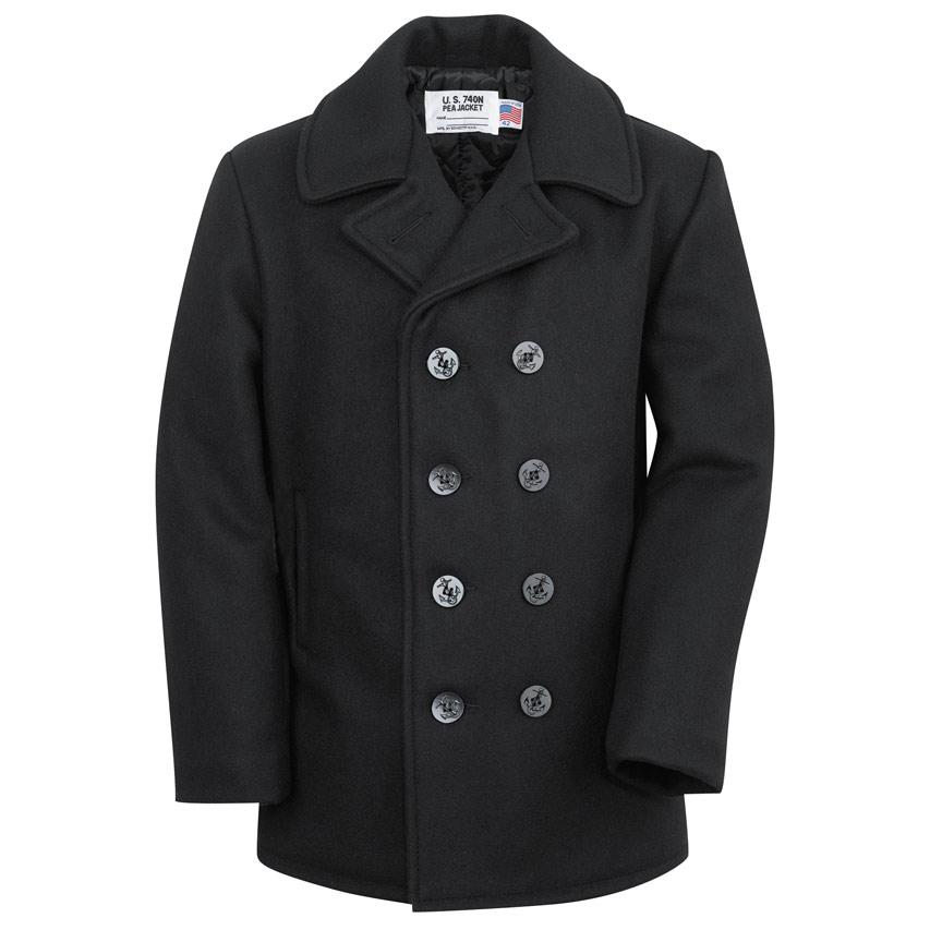 ab77c237 US Navy Pea Coat | American Made Pea Coat who makes navy issue pea coats