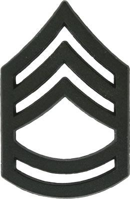 black metal rank sergeant 1st class e7 military insignia