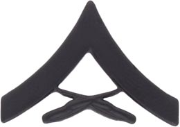 Lance Corporal Black Metal Military Insignia In Detroit