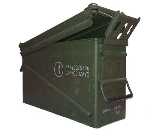 Genuine Military Surplus Saw Box Ammo Can