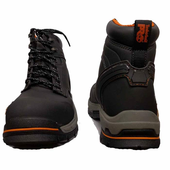 Timberland Stockdale 6 Inch Black Alloy Toe Work Boot TB01064A001