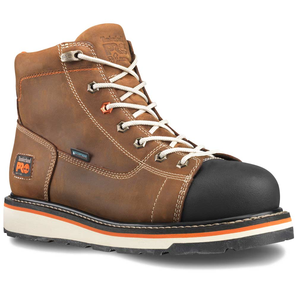 2648cce1714 Timberland Gridworks Waterproof 6-inch Brown Work Boot