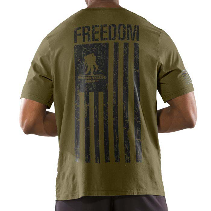 under armour wounded warrior project freedom flag men 39 s t