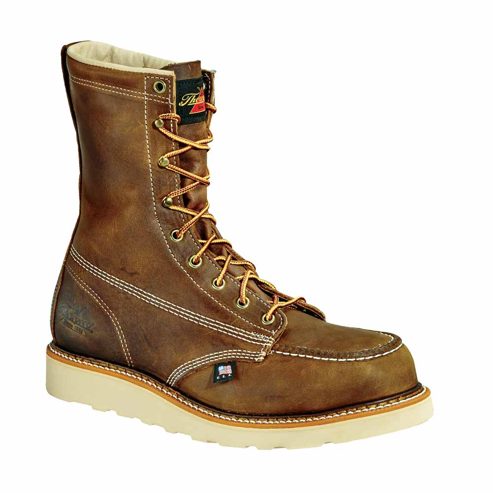 Thorogood Trail Brown 8-Inch Moc Wedge ST Work Boot