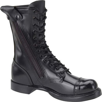 Corcoran 995 10-inch Black Side Zip Black Leather Military Boots 366825cac4a
