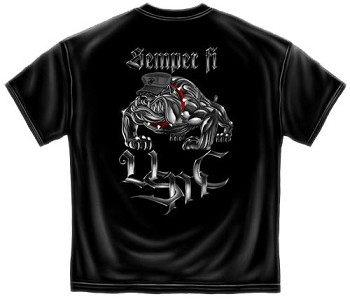 50355b71 Steel Bulldog Semper Fi USMC T-shirt | US Marines Tee Shirt - Short Sleeve