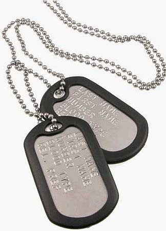 Personalized Military Dog Tags with Silencers  Custom Authentic ... b0188dd6173