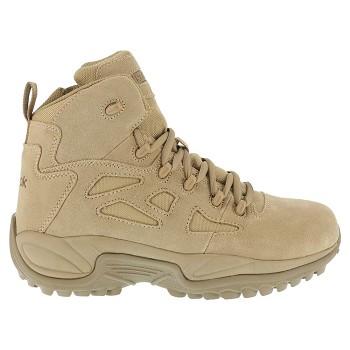 5af82dc9604e Reebok Mens Rapid Response 6 inch Desert Tan Side Zip Composite Toe  Military Boots - RB8694
