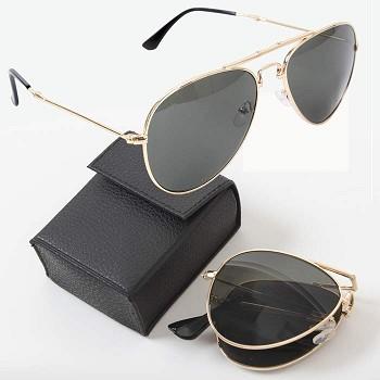 Military Style Folding Aviator Sunglasses 2a70b3ba409