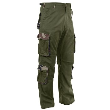Vintage Olive Drab Military Pants with Woodland Camo Accents ... 61cdccaf5e5