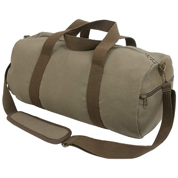 19 Inch Olive Drab Two Tone Heavyweight Canvas Duffle Bag