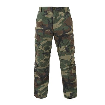 Vintage Woodland Camouflage Military Cargo Pants 1b794f91418