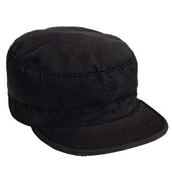 d6d3a82cba6 Black Vintage Patrol Cap - Vintage Military Hats