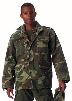 Vintage Military Camouflage M-65 Field Jacket 5ab771ae5de