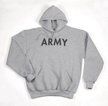 Grey Pullover Army Hoodie Sweatshirt 7c371bae8