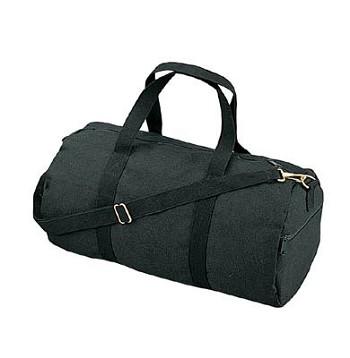 259581cfb16 19 inch Black Canvas Military Duffle Bag   Military Duffle Bags