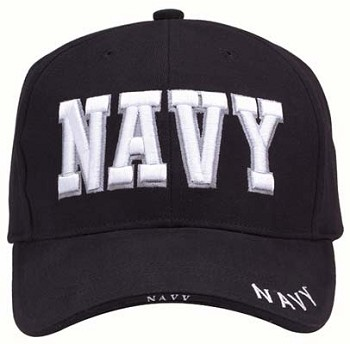 Embroidered Navy Baseball Cap - Military Hats d08e4a0b26a