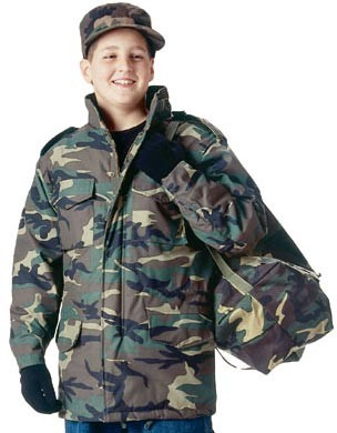 5c1795a3dd549 Kids Camo M-65 Lined Military Field Jacket