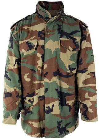 Woodland Camo M-65 Military All-Season Coat a0c5a387929